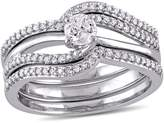 Ice Julie Leah 1/2 CT TW Diamond 3-Piece Bridal Ring Set in 10k White Gold