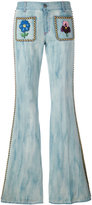 Gucci studded flared jeans - women - Cotton - 26