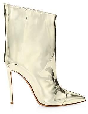 Alexandre Vauthier Women's Alex Mirror Metallic Ankle Boots