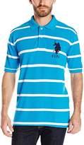 U.S. Polo Assn. Men's Narrow-Striped Polo Shirt With Big Pony
