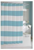 Kassatex Hampton Stripe Shower Curtain - Spa Blue