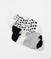 LOFT Dandelion & Stripe No Show Sock Set