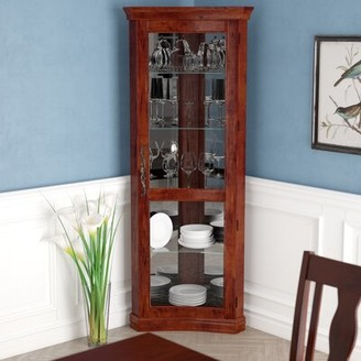Nannie Lighted Curio Cabinet Darby Home Co
