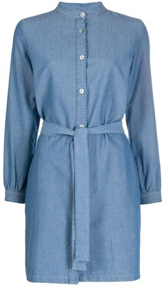 A.P.C. band collar denim dress
