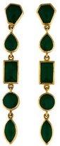 Isharya Green Resin Drop Earrings