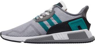 adidas Mens EQT Cushion ADV Trainers Grey Two/Sub Green/Footwear White