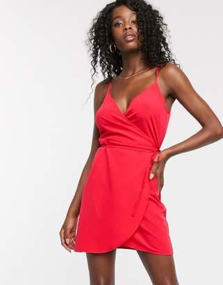 Asos Design DESIGN mini cami wrap dress