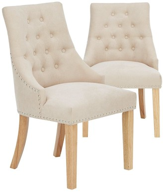 Pair of Warwick Fabric Dining Chairs