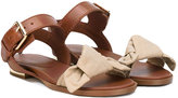 Burberry bow knot sandals - kids - Cotton/Calf Leather/Leather/rubber - 27
