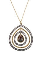 Todd Reed Red Fancy Diamond Pendant Necklace
