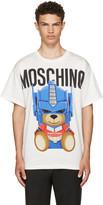 Moschino White Transformers Teddy Logo T-Shirt
