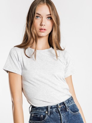 Nude Lucy Harper Basic Crew Neck T-Shirt in Grey