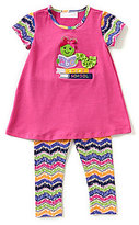 Bonnie Jean Bonnie Baby Baby Girls 12-24 Months Back to School Bookworm-Applique Dress & Print Leggings Set