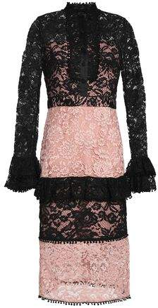 Alexis Two-Tone Corded Lace Dress