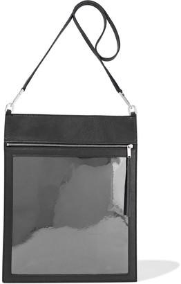 Rick Owens Security Pocket Pvc-paneled Textured-leather Shoulder Bag