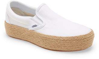 Vans Linen Slip-On Platform Espadrille SF Sneaker