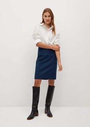MANGO Cotton pencil skirt