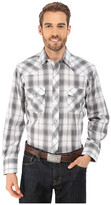 Roper 9747 Black, Grey, & White Plaid