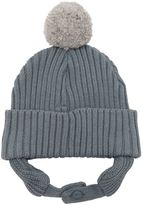 Stella McCartney Cotton & Wool Beanie Hat W/ Ear Flaps