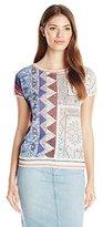 Desigual Women's Knitted T-Shirt Short Sleeve 36