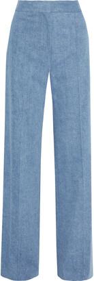 Adam Lippes Cotton-blend Twill Wide-leg Pants