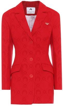 Marine Serre Wool-blend jacquard blazer