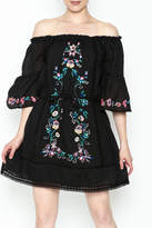 Umgee USA Embroidered Peasant Dress