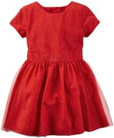 Carter's Holiday Dress (Toddler/Kid) - Red-4T