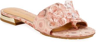 Donald J Pliner Frances Embellished Brocade Sandals