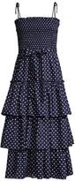 Tory Burch Ruffle Tiered Dotted Dress
