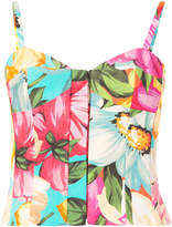 Milly floral bustier top