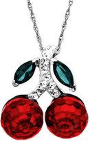 Kaleidoscope Sterling Silver Necklace, Crystal Cherry Pendant with Swarovski Elements