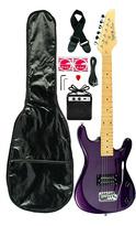 Purple 3/4-Size Kid's Electric Guitar Set