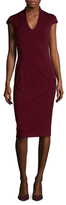 Ava & Aiden Cap Sleeve V-Neck Sheath Dress