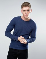 United Colors Of Benetton Long Sleeve Top With Coloured Fleck