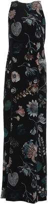 Versace Cutout Embellished Printed Silk Crepe De Chine Maxi Dress