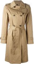 Alberto Biani belted trench coat - women - Cotton/Spandex/Elastane - 46