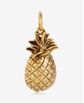 Express sequin matte gold pineapple charm