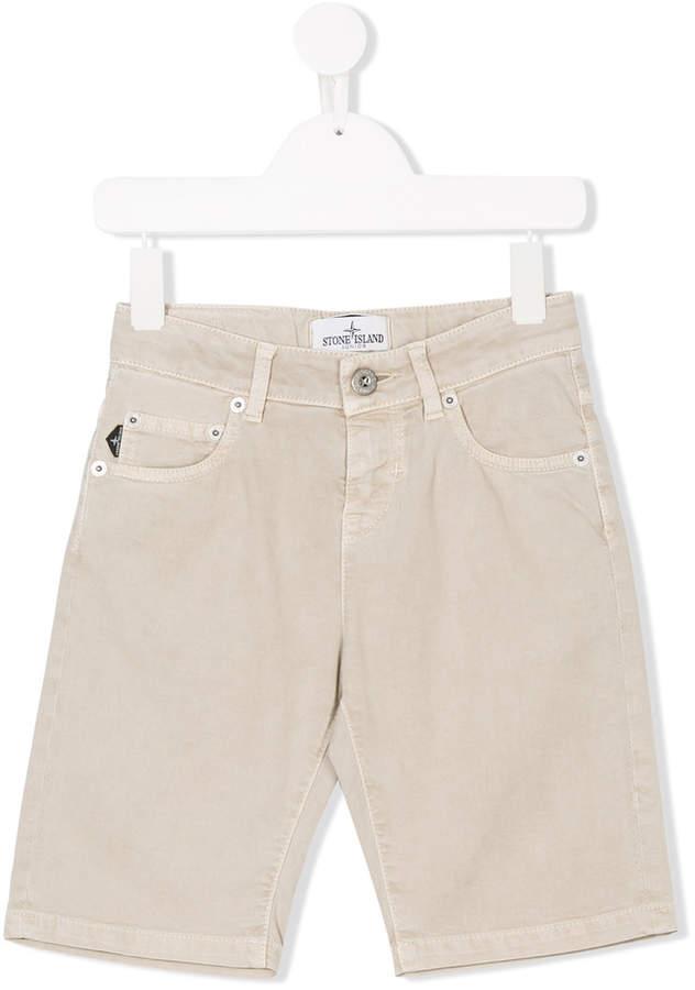 Stone Island Junior denim shorts