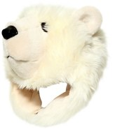 Dolce & Gabbana Large Polar Bear Plush & Fleece Hat