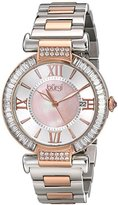 Burgi Women's BUR082TTR Analog Display Swiss Quartz Two Tone Watch