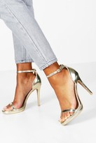 Boohoo Elizabeth Metallic Single Platform Two Part Heels