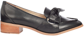 Karen Millen Eyelet Soft Tie Loafers, Black