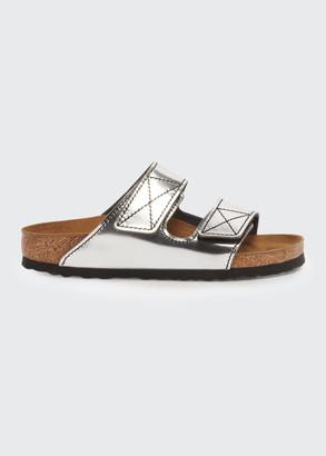 Birkenstock x Proenza Schouler Arizona Metallic Double Grip-Strap Slide Sandals