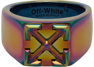 Off-White Off White Multicolor Anodized Arrows Ring
