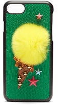 Dolce & Gabbana Ice-cream fur-embellished iPhone® 7 case