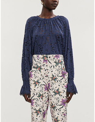 Free People Olivia stretch-lace top