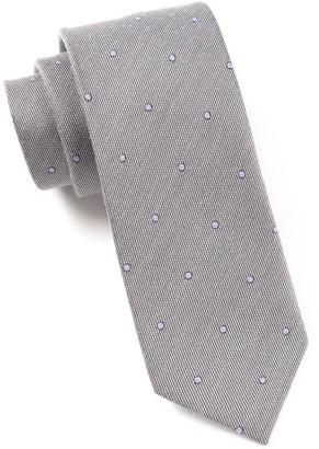 Tie Bar Wool Dots Charcoal Tie