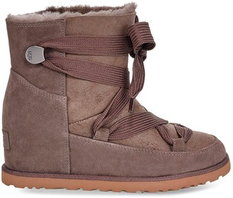 UGG Classic Premium Femme Lace-up Hidden Wedge Ankle Boots - Slate