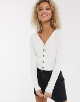 Urban Bliss knitted top with buttons
